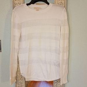 Michael Kors white striped sweater M sheer